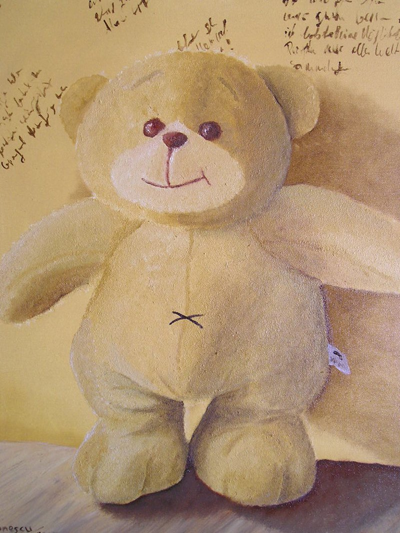Teddybaer-Oelfarben
