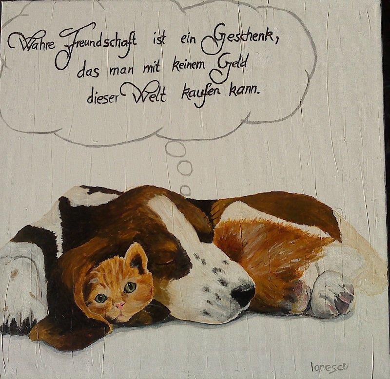 Tierfreundschaft-Oelfarben