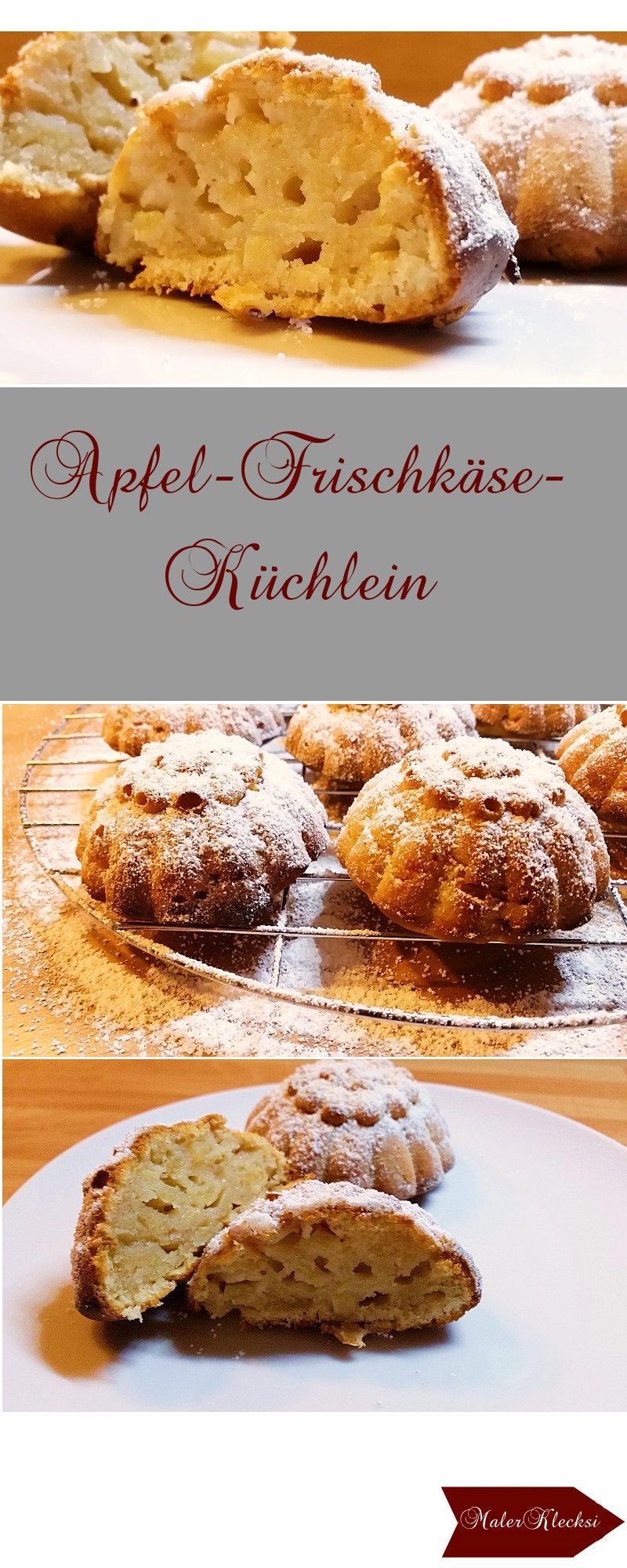 Apfel-Frischkäse-Minikuchen