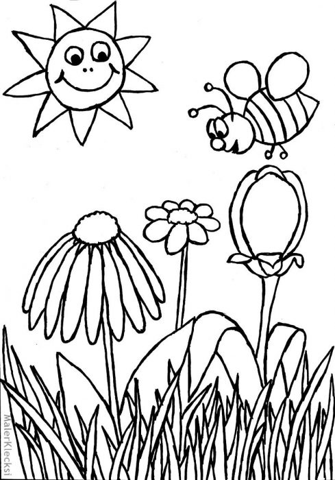 Ausmalbild-Biene