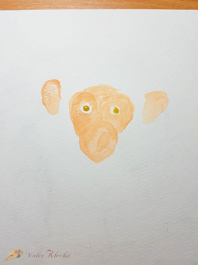 Tier-ABC-Affenkopf-vorgemalt