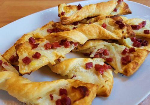 Flammkuchen-Twister, das ideale Fingerfood