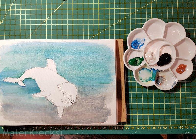 Tier-ABC Delfin Hintergrund