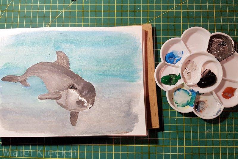 Tier-ABC Delfin ausmalen