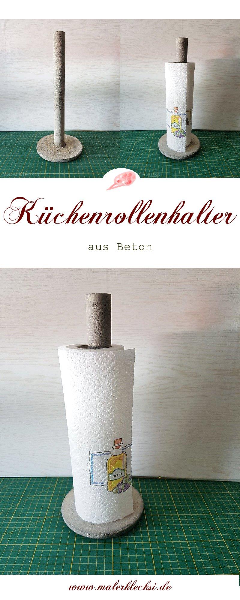 Küchenrollenhalter aus Beton