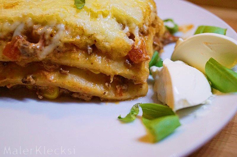Rezept mexikanische Lasagne ganz einfach