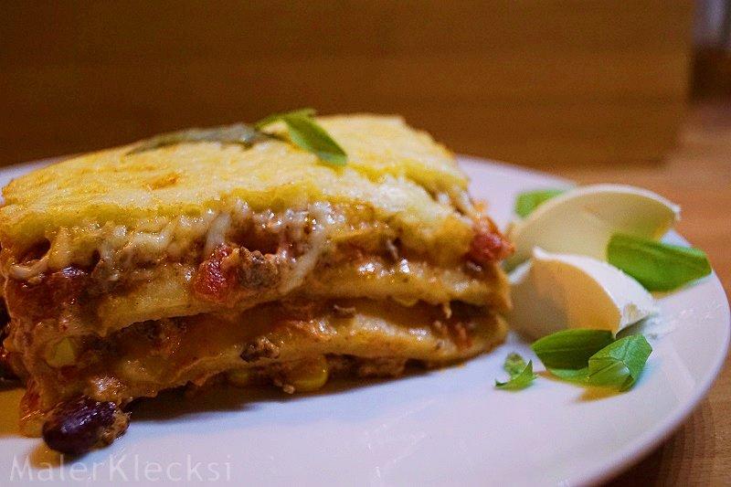 Rezept mexikanische Lasagne die Zubereitung