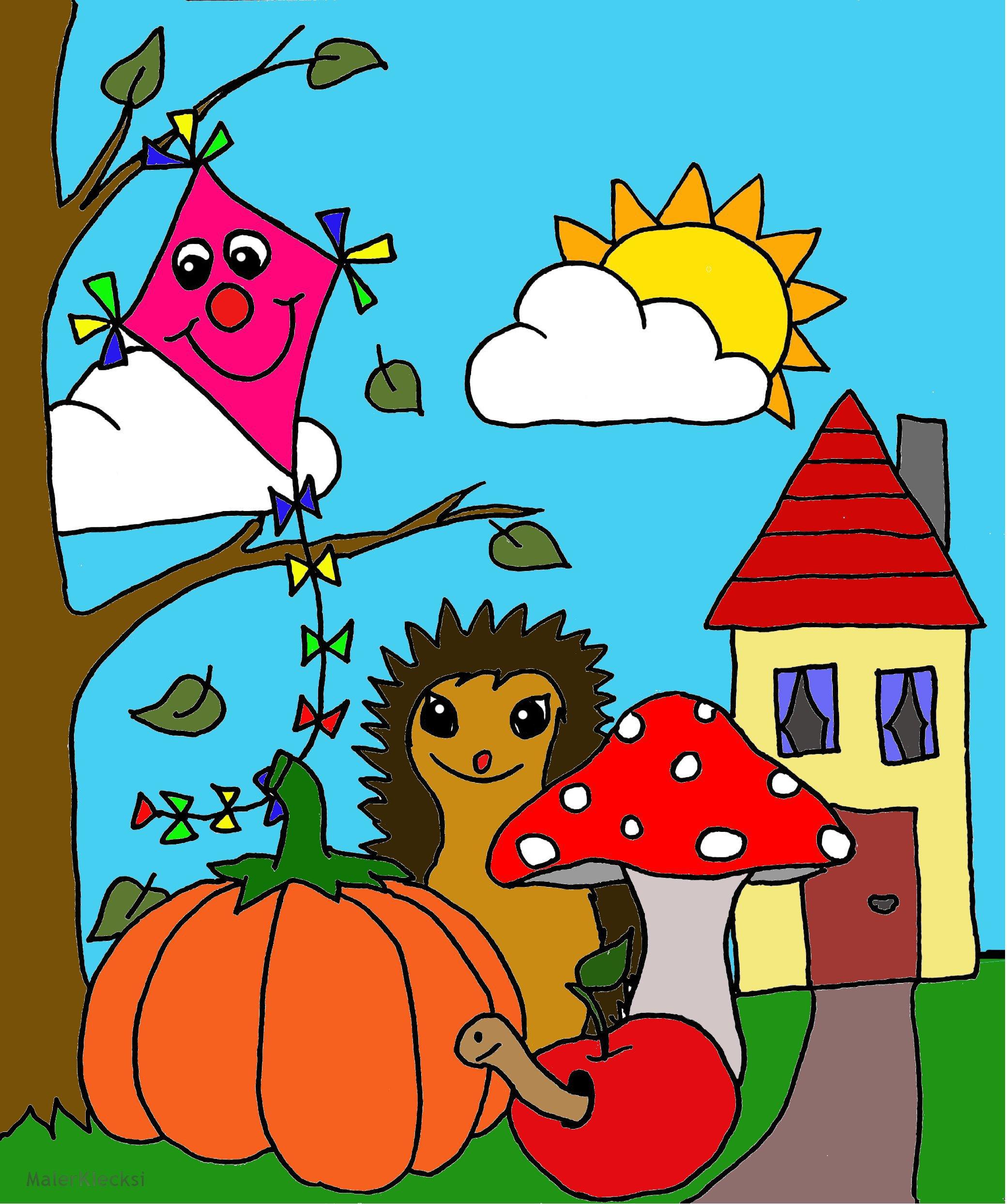 Herbstliches Kinderbild