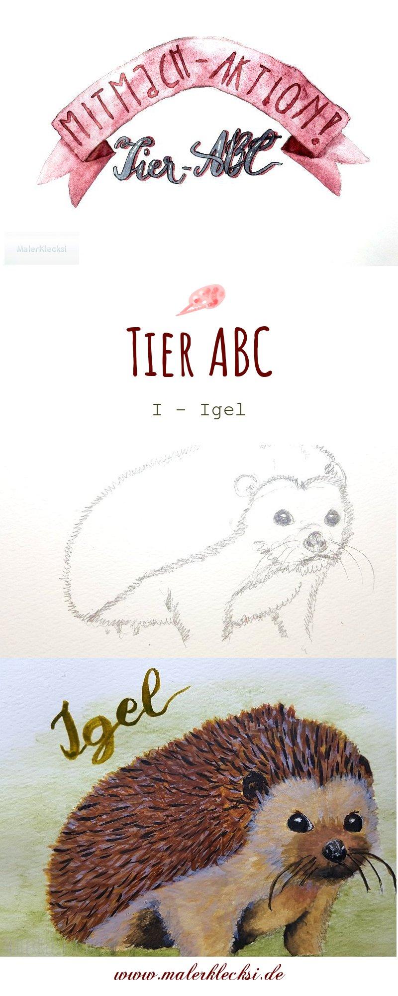 Mitmach-Aktion Tier-ABC diesmal ist das I für Igel an der Reihe.