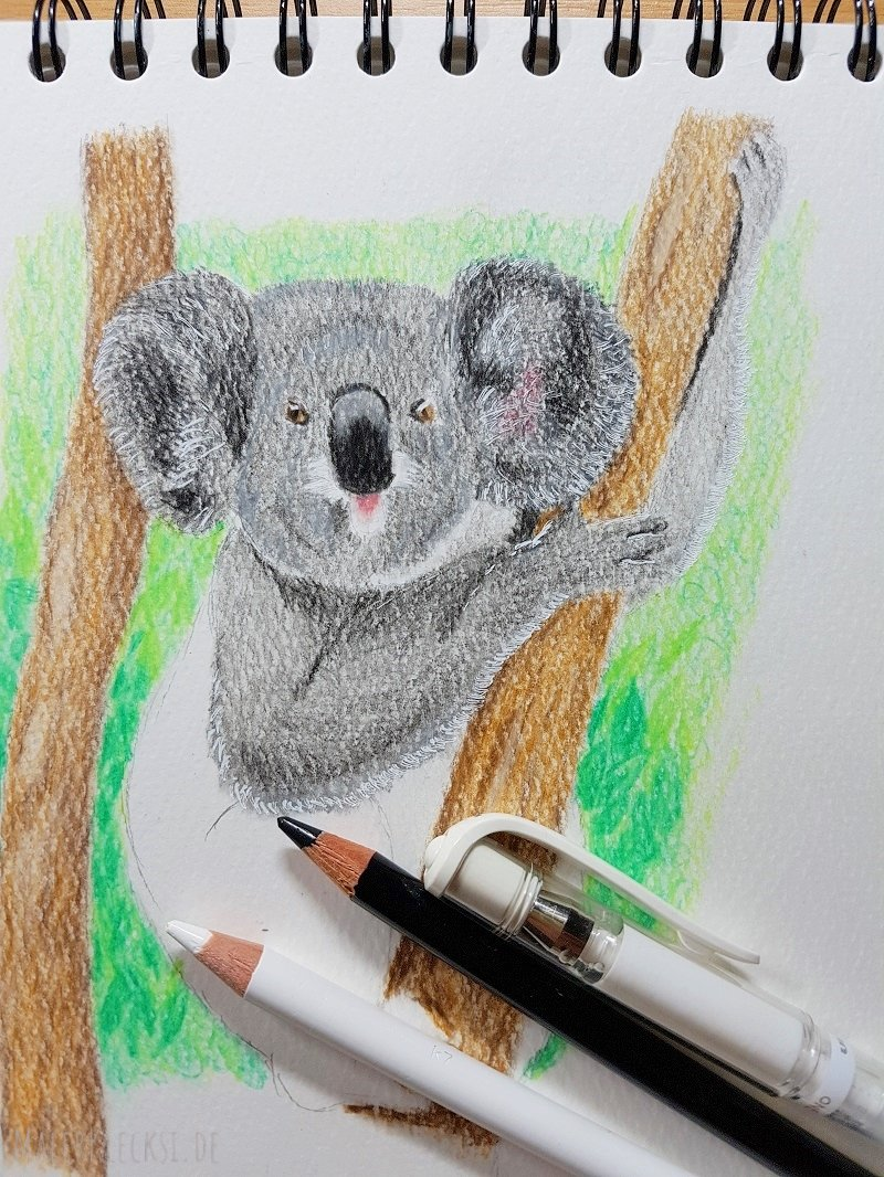 Meine Mitmach-Aktion-Tier-ABC für alle Hobbymaler geht in die nächste Runde, das K ist an der Reihe, der Koala.