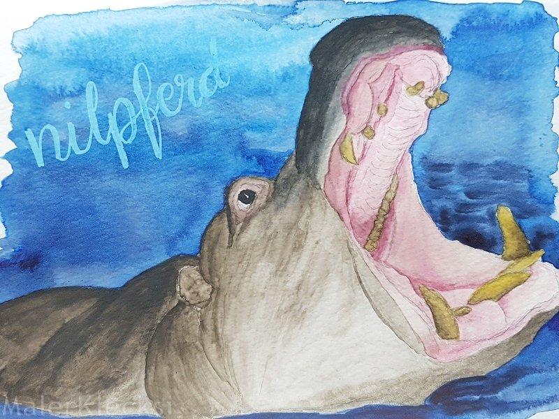 Meine Mitmach-Aktion Tier-ABC geht mit dem N dem Nilpferd weiter.