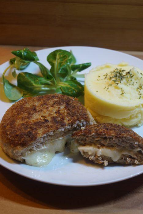 Camembert-Frikadellen, schnell und einfach